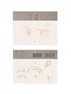 Meri Meri Τατουάζ Rainbow Floral Unicorn