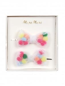 Meri Meri Κλιπ Μαλλιών Φιογκάκια με Pom Pom