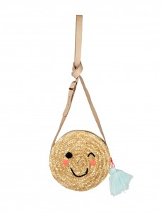 Meri Meri Ψάθινη Τσάντα Emoji