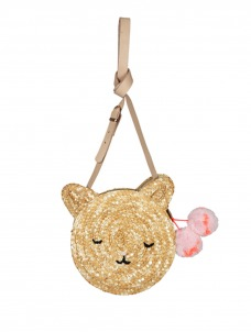 Meri Meri Ψάθινη Τσάντα Γάτα
