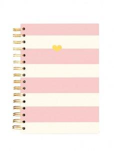 Gold Heart - Spiral Journal