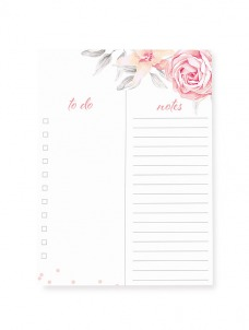 Pale floral- Large notepad