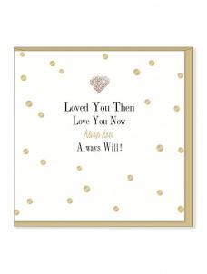 Ευχετήρια Κάρτα – Loved You Then Love You Now