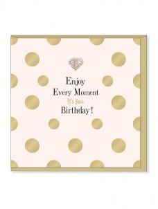 Ευχετήρια Κάρτα – Enjoy Every Moment, Birthday