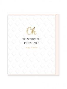 Ευχετήρια Κάρτα – Wonderful Friend, Birthday