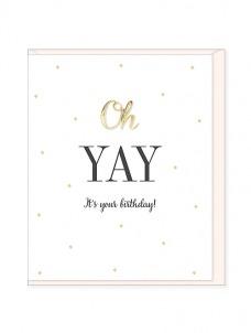 Ευχετήρια Κάρτα – Oh Yay, Birthday