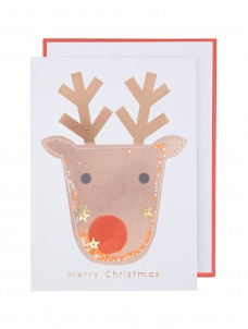 Meri Meri Ευχετήρια Χριστουγεννιάτικη Κάρτα Shaker Reindeer