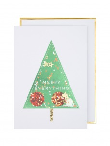 Meri Meri Ευχετήρια Χριστουγεννιάτικη Κάρτα Shaker Tree