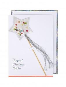 Meri Meri Ευχετήρια Χριστουγεννιάτικη Κάρτα Star Shaker Wand