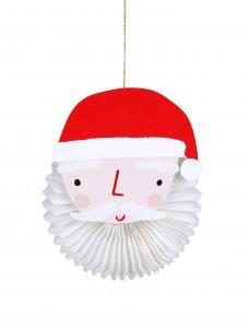 Meri Meri Ευχετήρια Χριστουγεννιάτικη Κάρτα Santa Tissue Fan