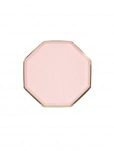 Meri Meri Πιάτο Γλυκού Οκτάγωνο Ροζ
