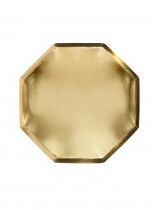 Meri Meri Πιάτο Φαγητού Οκτάγωνο Χρυσό