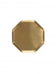 Meri Meri Πιάτο Γλυκού Οκτάγωνο Χρυσό