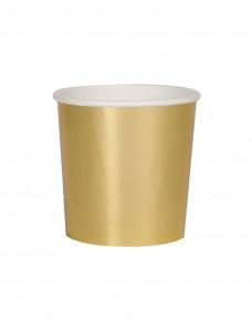 Meri Meri Ποτήρι Χαμηλό (Κούπα) Χρυσό 260ml