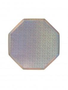 Meri Meri Πιάτο Φαγητού Οκτάγωνο Silver Holographic