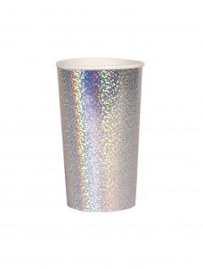 Meri Meri Ποτήρι Ψηλό (Coctail) Silver Sparkle 400ml