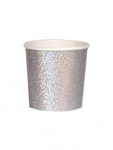 Meri Meri Ποτήρι Χαμηλό (Κούπα) Silver Sparkle 260ml