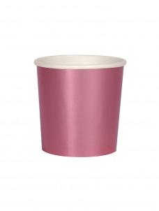 Meri Meri Ποτήρι Χαμηλό (Κούπα) Ροζ Foil 260ml