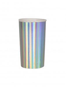 Meri Meri Ποτήρι Ψηλό (Coctail) Silver Holographic 400ml
