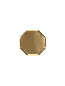 Meri Meri Πιάτο Mini Οκτάγωνο Χρυσό