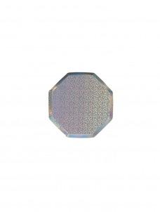 Meri Meri Πιάτο Mini Οκτάγωνο Silver Sparkle