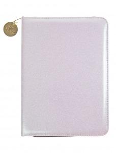 White Glitter Folio Organizer