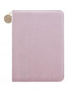 Pink Velvet Folio Organizer