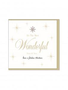 Ευχετήρια Χριστουγεννιάτικη κάρτα It's the Most Wonderful time of the Year