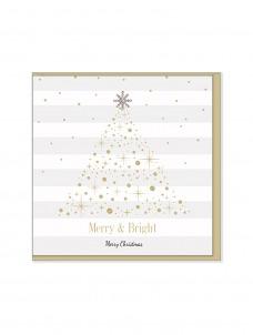Ευχετήρια Χριστουγεννιάτικη κάρτα Merry & Bright
