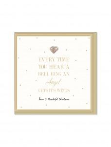 Ευχετήρια Χριστουγεννιάτικη κάρτα Every Time Your Hear a Bell Ring An Angel Gets It's Wings
