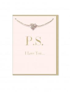 Ευχετήρια Κάρτα μαζί με βραχιολάκι P.S I Love You