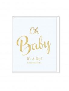 Ευχετήρια Κάρτα Oh Baby It's A boy