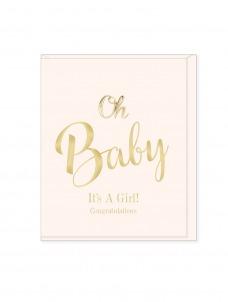 Ευχετήρια Κάρτα Oh Baby It's A Girl