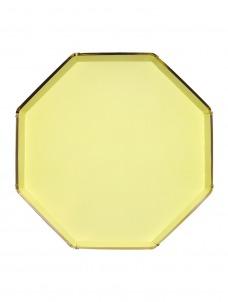 Meri Meri Πιάτο Φαγητού Οκτάγωνο Κίτρινο