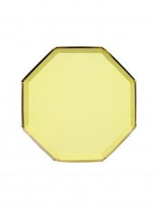 Meri Meri Πιάτο Γλυκού Οκτάγωνο Κίτρινο