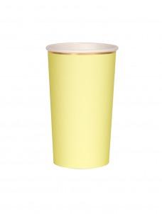 Meri Meri Ποτήρι Ψηλό (Coctail) Κίτρινο 400ml