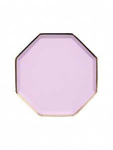 Meri Meri Πιάτο Γλυκού Οκτάγωνο Λιλά