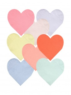 Meri Meri Χαρτοπετσέτα Μικρή Pastel Καρδιά