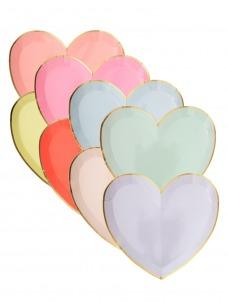 Meri Meri Πιάτο Γλυκού Pastel Καρδιά