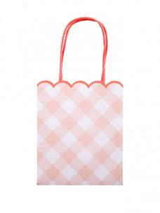 Τσάντες Δώρου Καρώ Ροζ