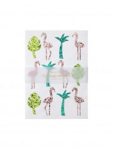 Meri Meri Αυτοκόλλητα Flamingo ε γκλίτερ