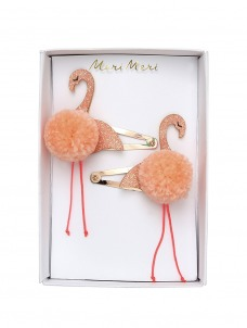 Meri Meri Κλιπ Μαλλιών Flamingo με Pom Pom
