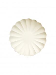 Meri Meri Πιάτο Μικρό Cream Simply Eco
