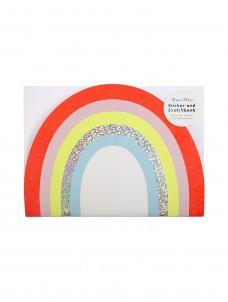 Meri Meri Rainbow Stickers & Sketch Book