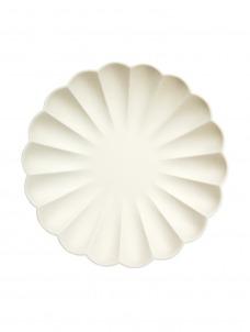 Meri Meri Πιάτο Μεγάλο Cream Simply Eco
