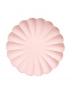 Meri Meri Πιάτο Μεγάλο Pink Simply Eco
