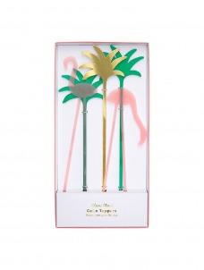 Meri Meri Cake Toppers Flamingo