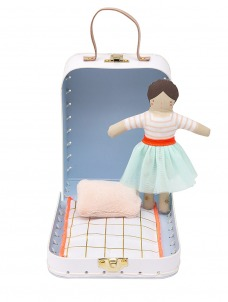 Meri Meri Mini Lila Κούκλα Σε Βαλιτσάκι