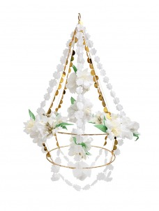 Meri Meri Διακοσμητικός Πολυέλαιος Λευκά Λουλούδια