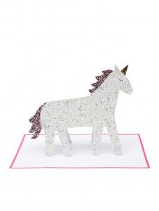 Meri Meri Κάρτα Γενεθλίων Unicorn Με Γκλίτερ